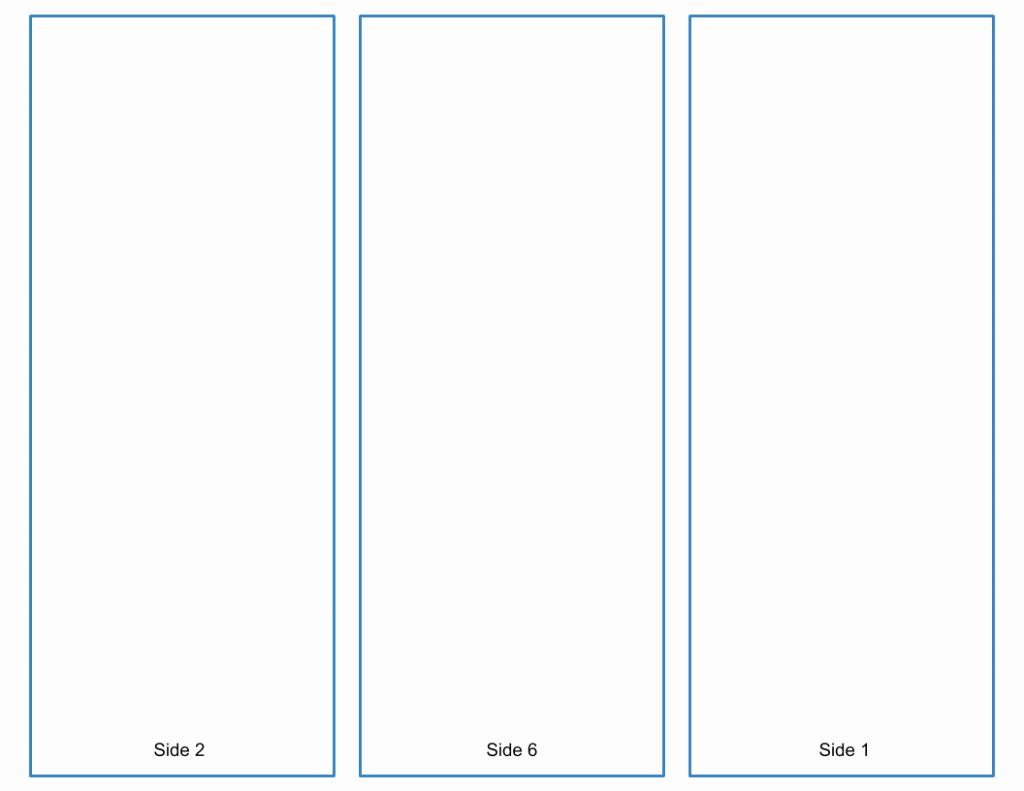 Blank Tri Fold Brochure Template Google Slides Free Download