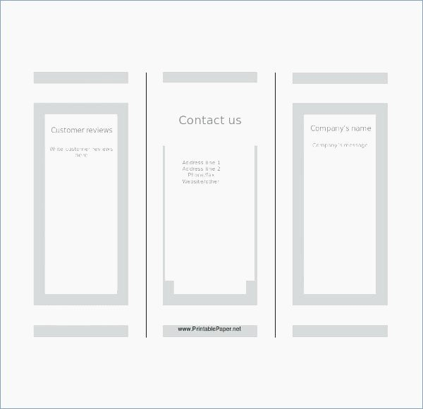Blank Tri Fold Brochure Template Powerpoint – Playitaway