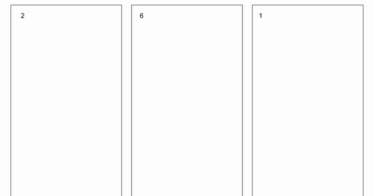 Blank Trifold Brochure Template for Google Slides Google