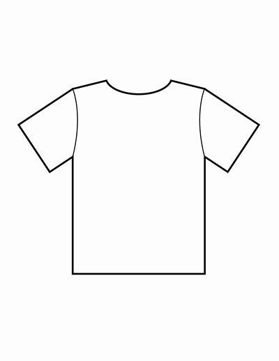 Blank Tshirt Template Pdf
