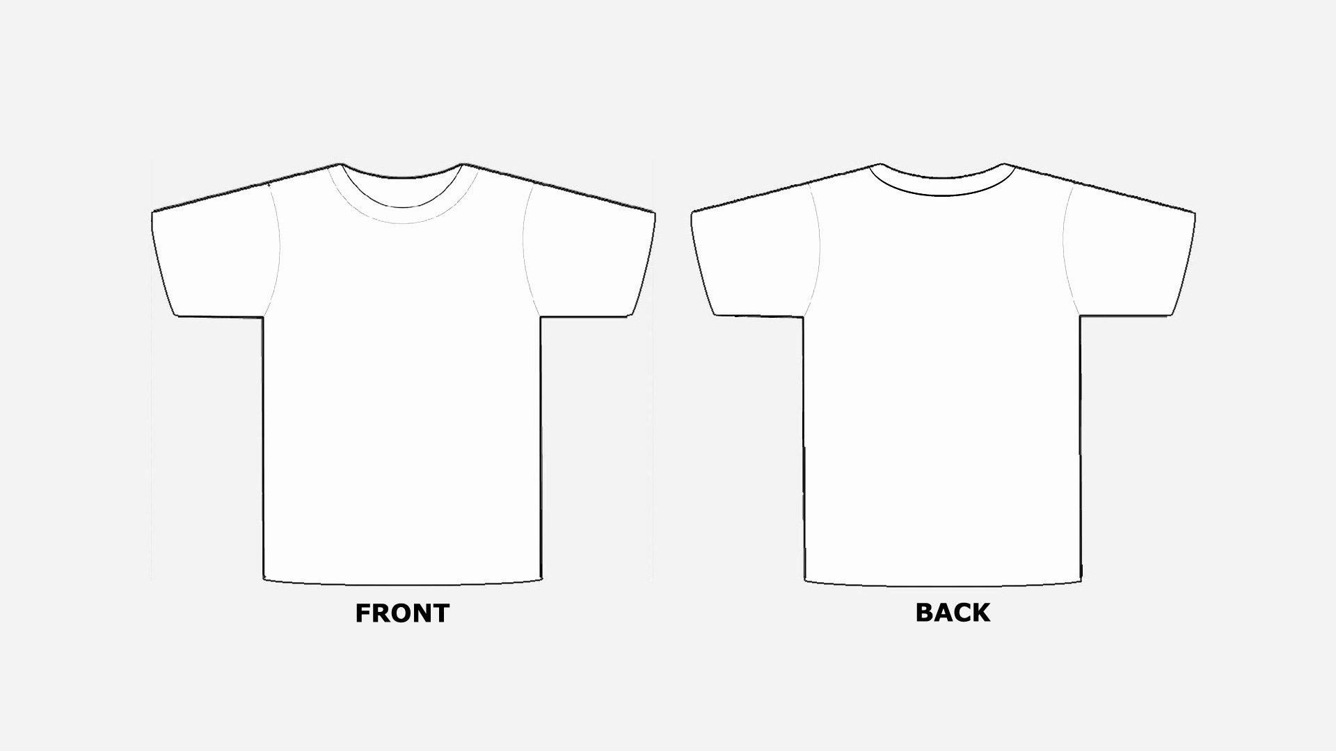 Blank Tshirt Template Printable In Hd Hd Wallpapers