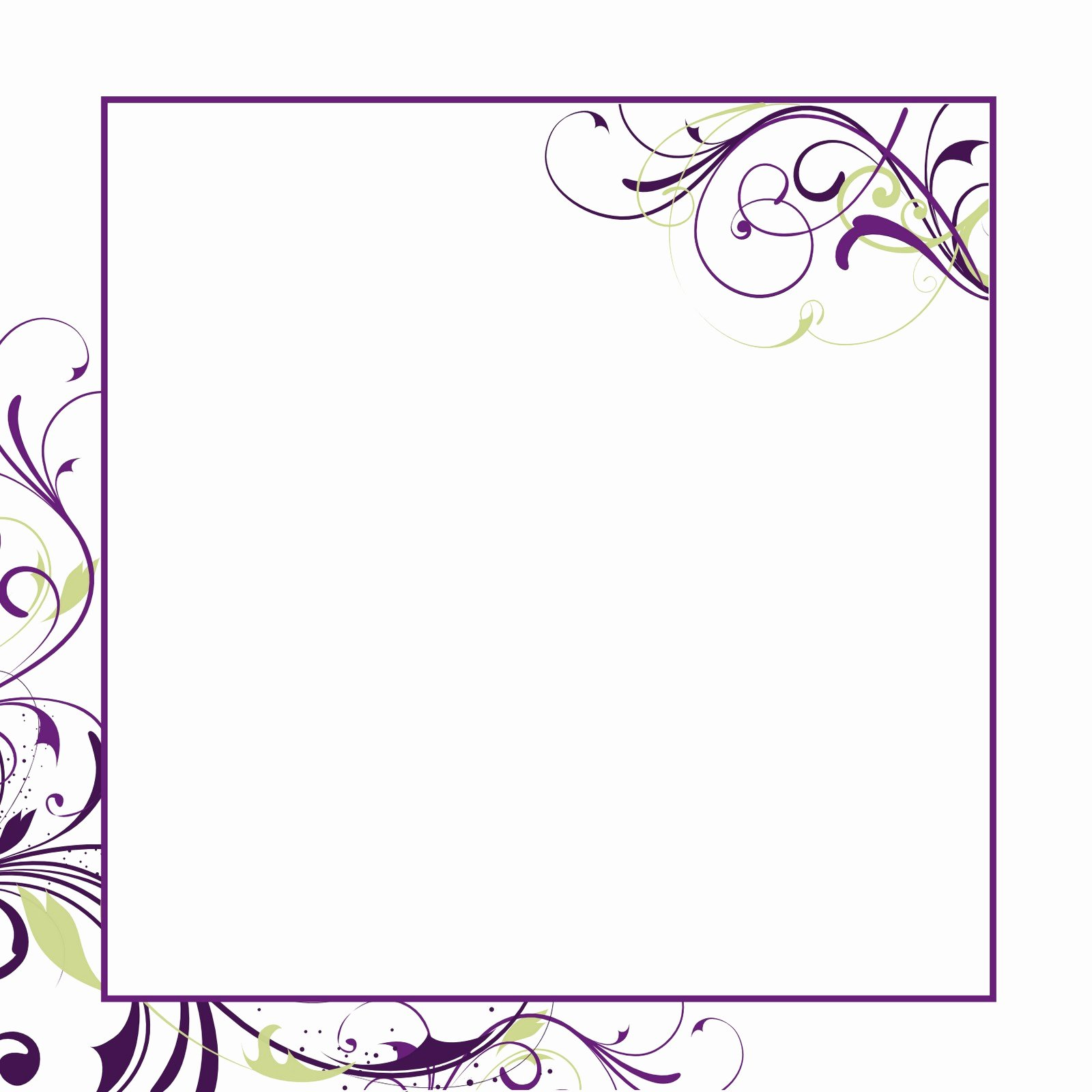 Blank Wedding Invitation Paper Template