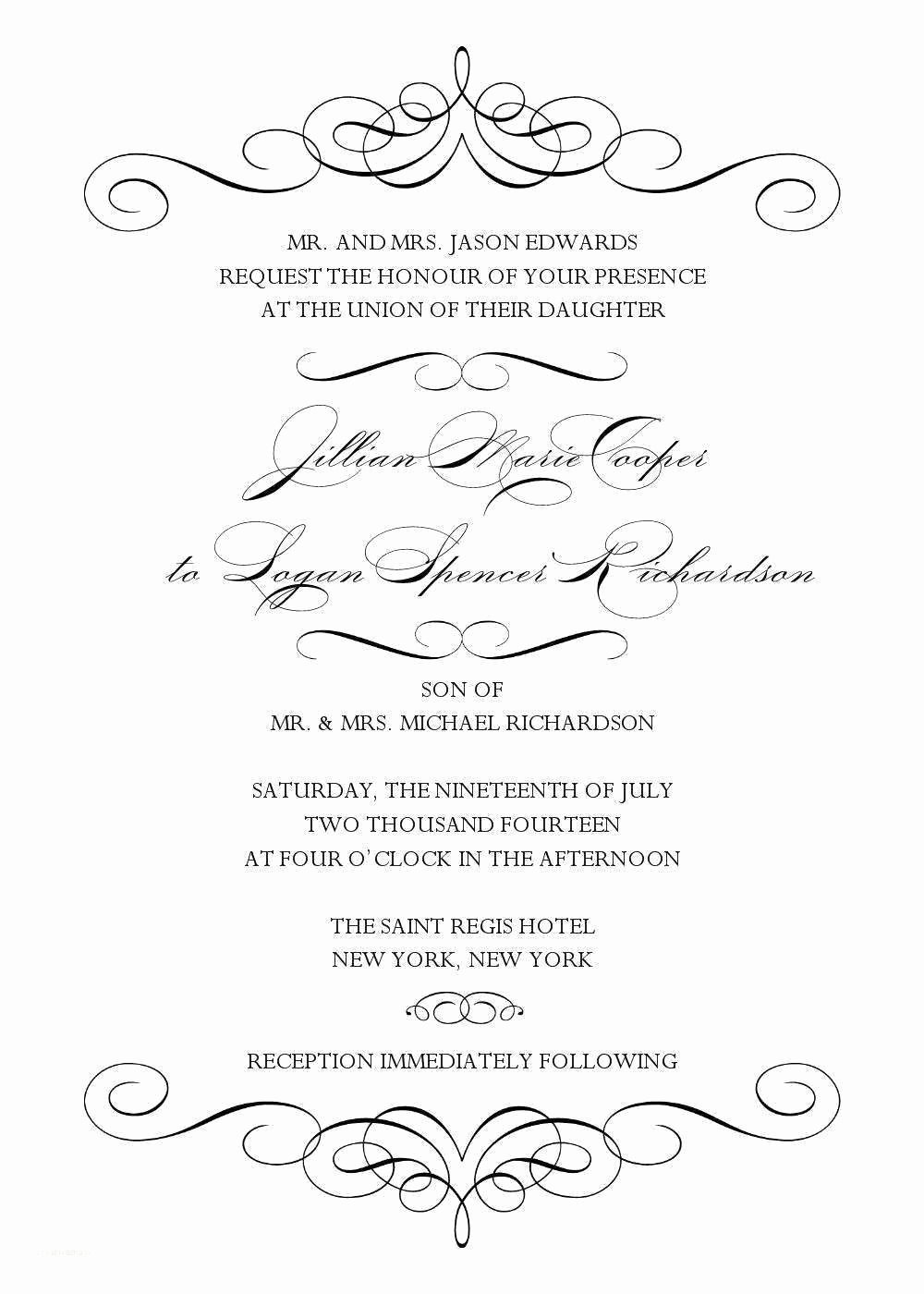 Blank Wedding Invitation Templates for Microsoft Word