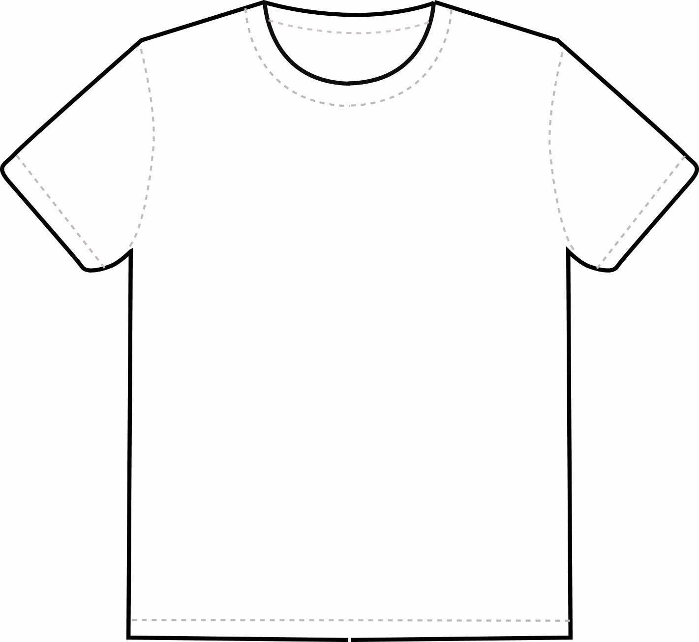 Blank White T Shirt Template Clipart Best