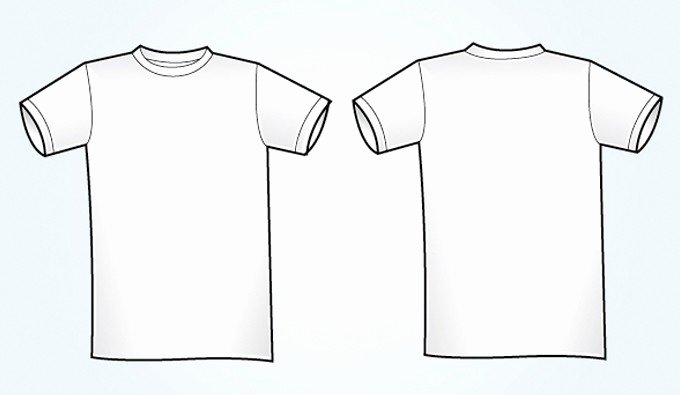 Blank White Vector T Shirt Template Free Vectors
