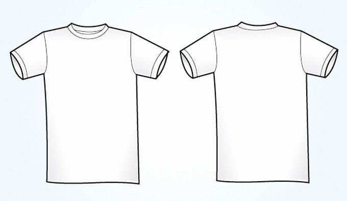Blank White Vector T Shirt Template