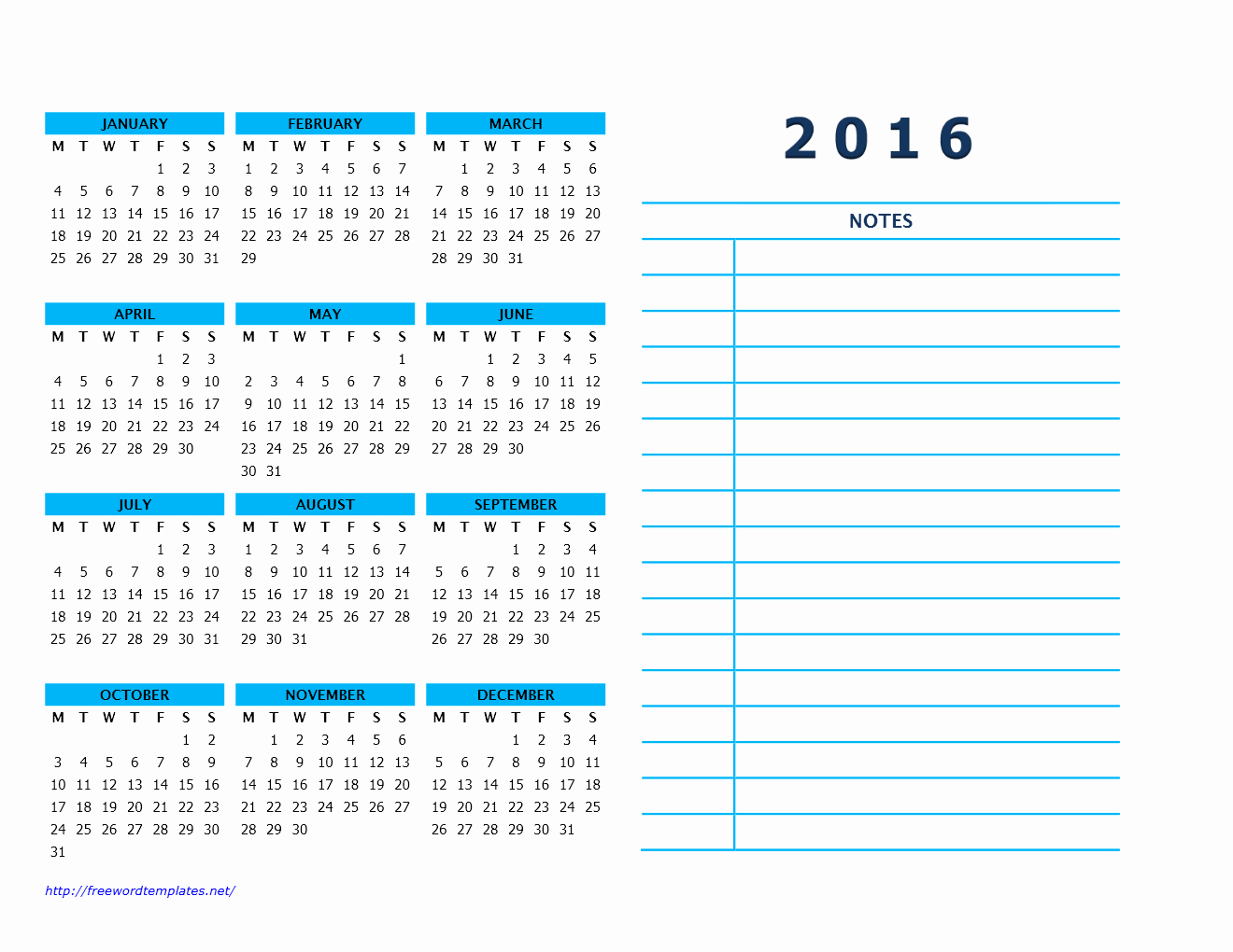 Blank Yearly Calendar Grids E Sheet
