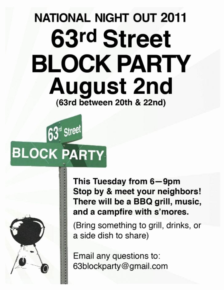 Block Party Flyer Template Free Professional High Quality