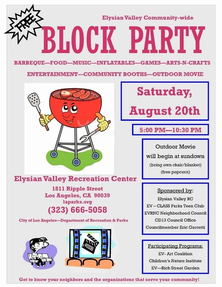 Block Party Flyer Template Free Yourweek 97a70deca25e
