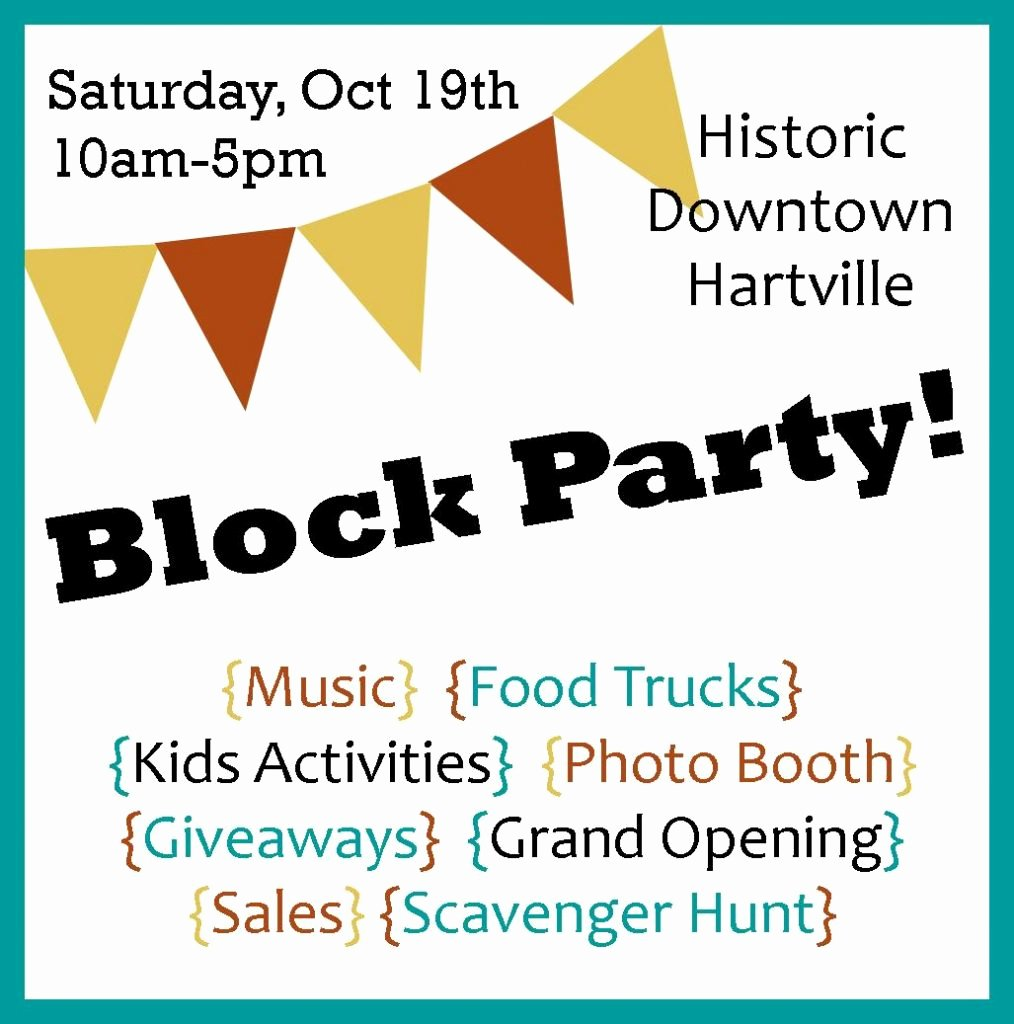 Block Party Flyer Template Gallery Professional Report