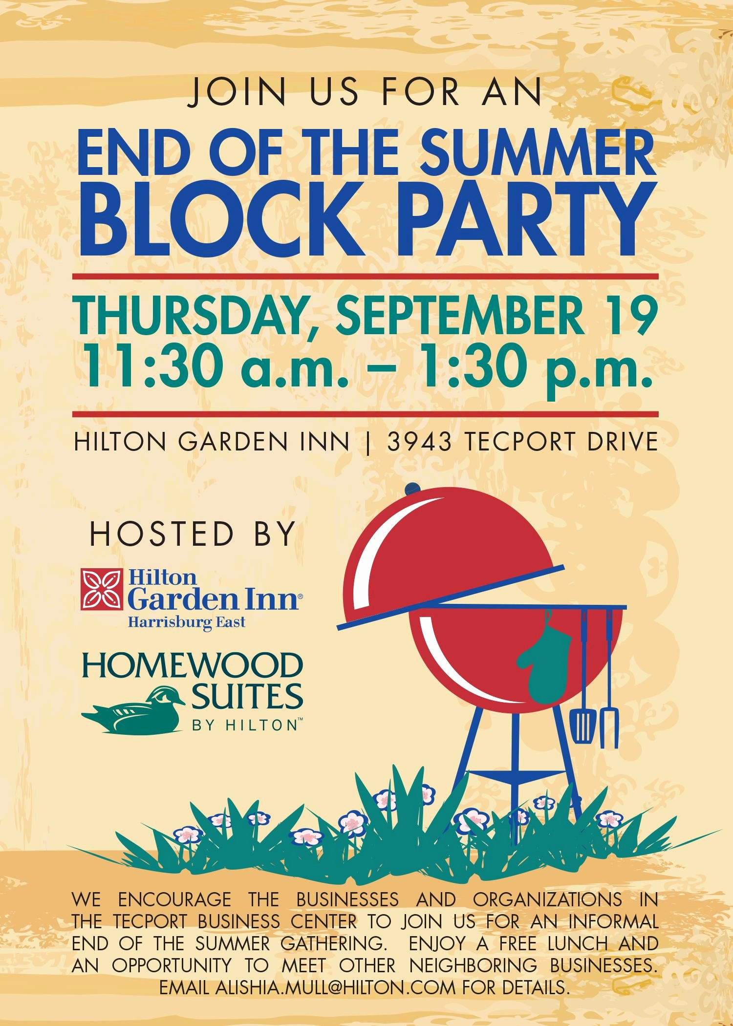 Block Party Invitation for Homewood Suites and Hilton