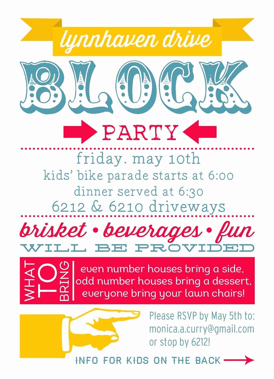 Block Party Invitation Template