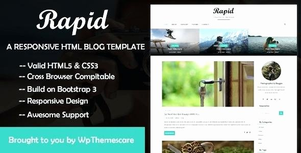Blog Template Magazine Bootstrap 4 Free Example