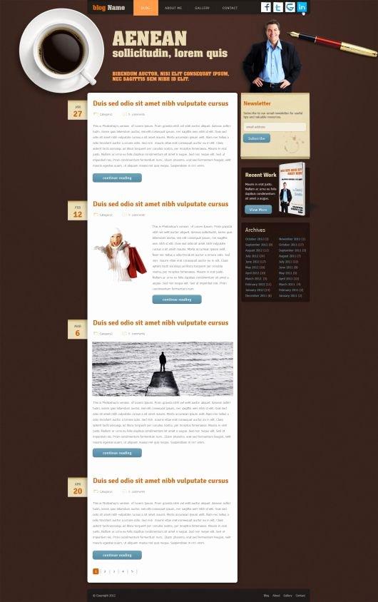 Blog Website Template Free Blog Template