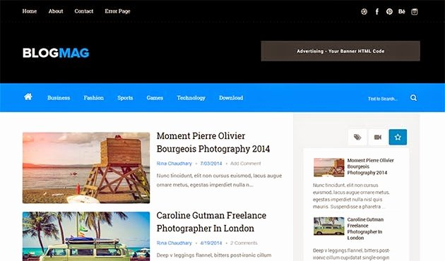 Blogmag Clean & Responsive Blogger Template Free