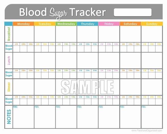 Blood Sugar Tracker Printable for Health Medical