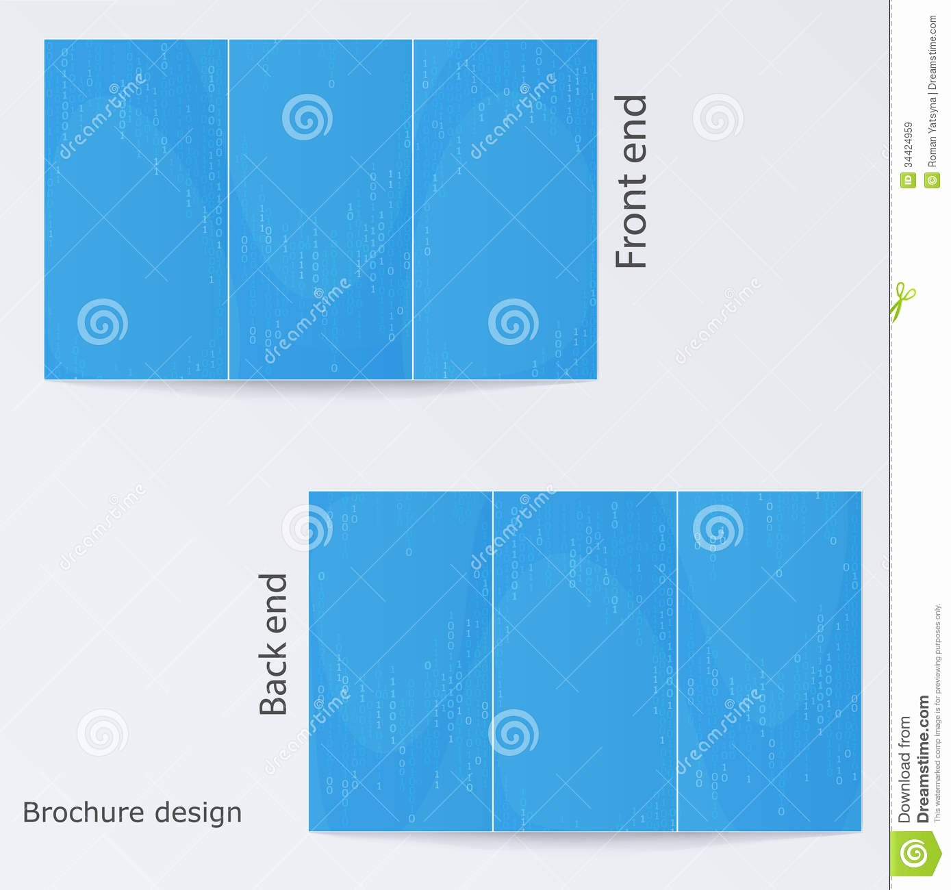 Blue Brochure Template Design Royalty Free Stock