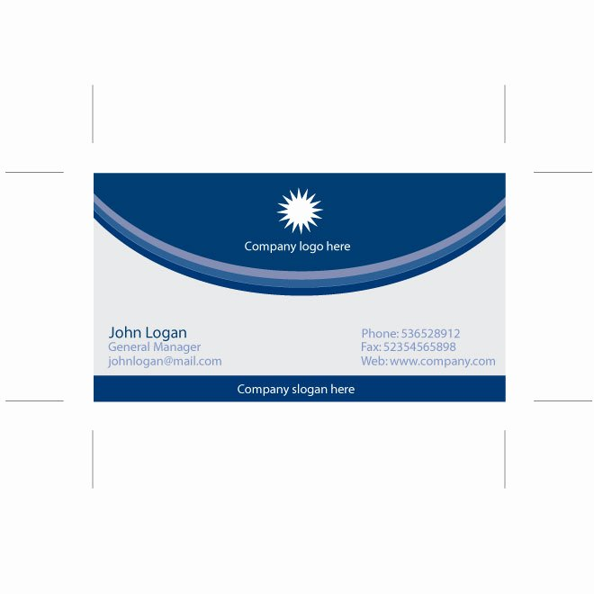 Blue Business Card Illustrator Template Download at