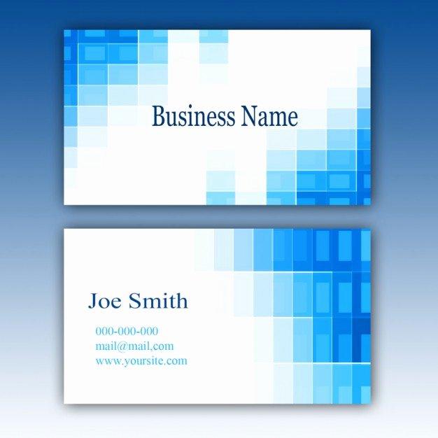Blue Business Card Template Psd File