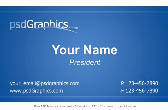 Blue Business Card Template