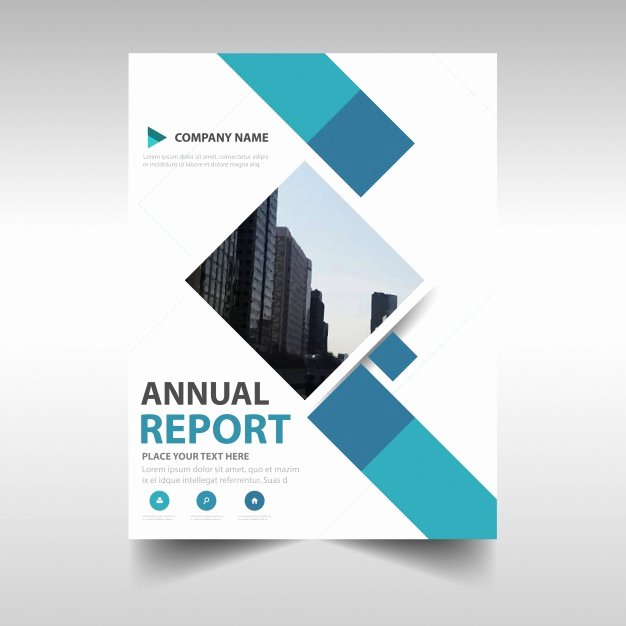 Blue Creative Annual Report Book Cover Template Vector