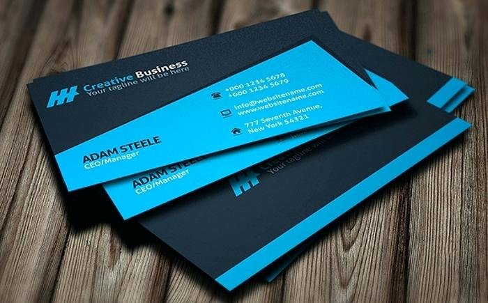 Blue Creative Manager Personal Business Card Template