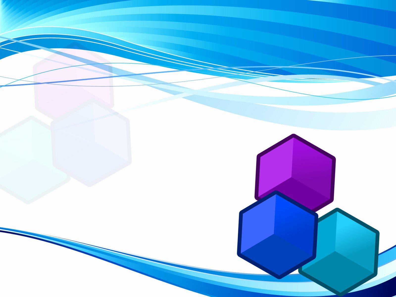 Blue Cube Backgrounds 3d Blue Templates