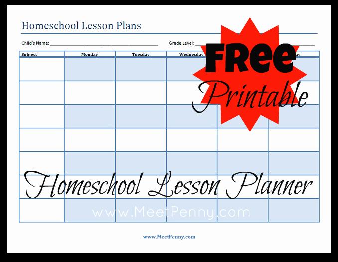 Blueprints organizing Your Homeschool Lesson Plans Meet