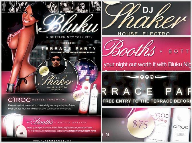 Bluku Nightclub Flyer Template Flyerheroes
