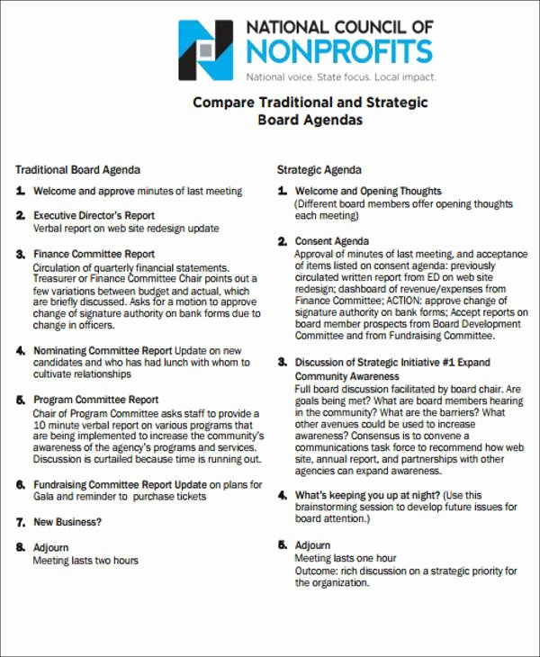 Board Agenda Templates 9 Free Word Pdf format Download