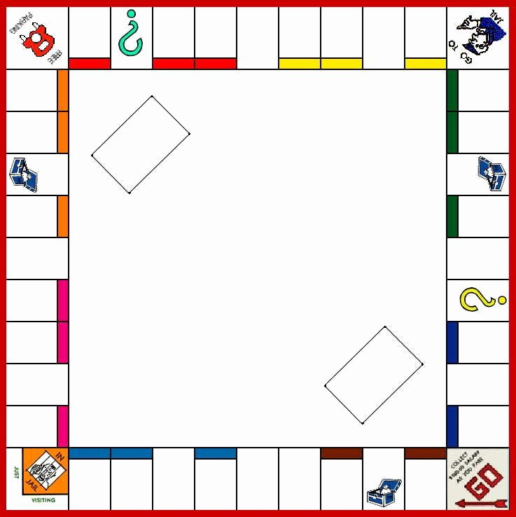 Board Game Template Monopoly Board Game