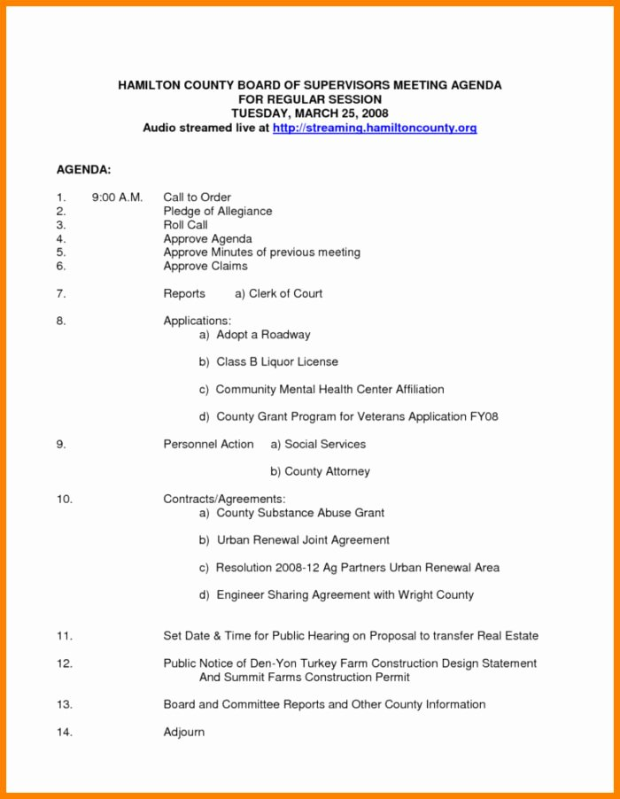 Board Meeting Agenda Template Uk Templates Resume