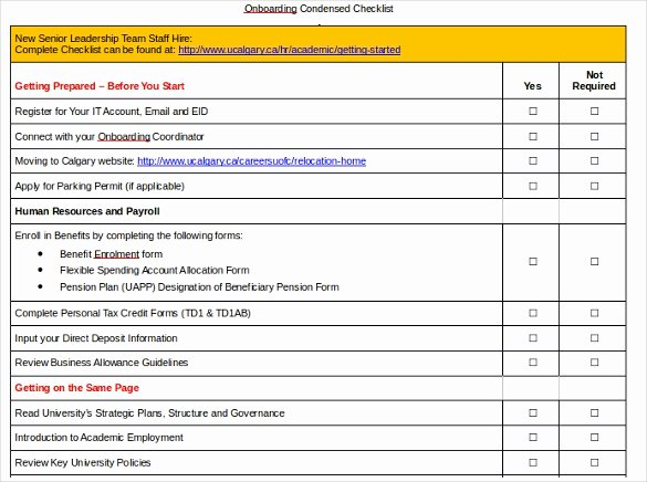 Boarding Checklist Template – 15 Free Word Excel Pdf