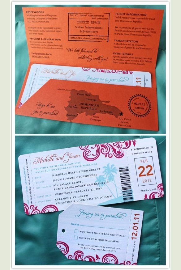 Boarding Pass Invitation Template 29 Free Psd format