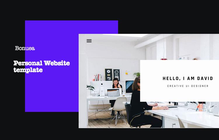 Bonuea Personal Bootstrap HTML5 Website Template