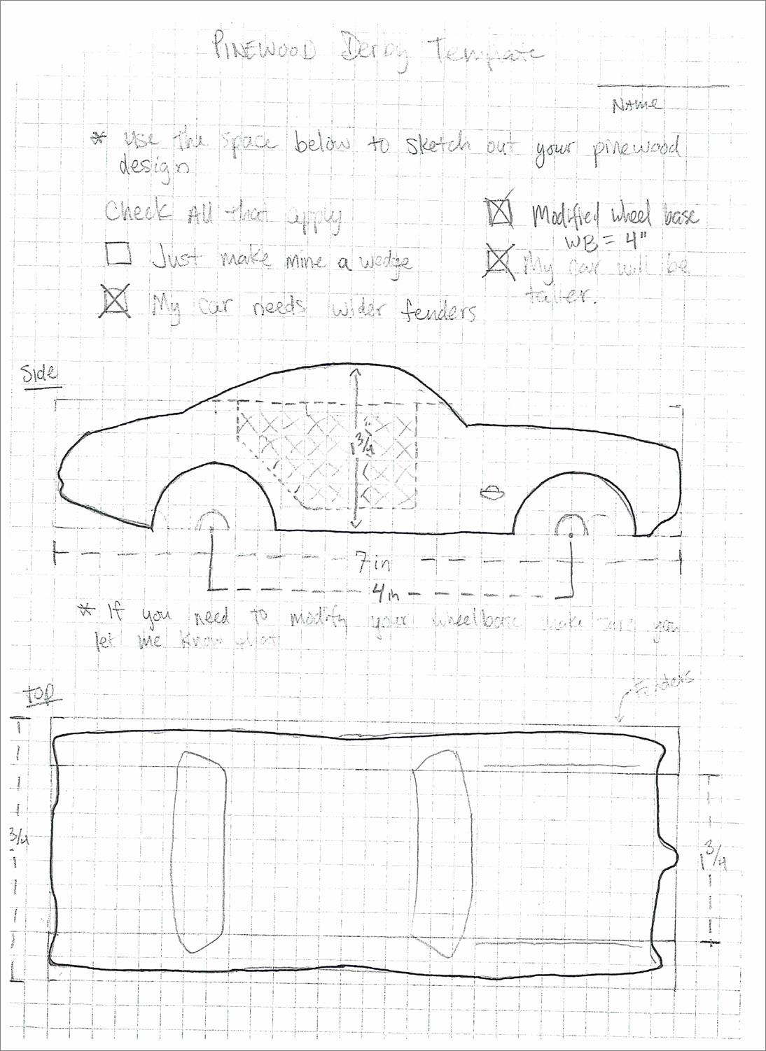 Bonus Sketchup assignment Pinewood Derby