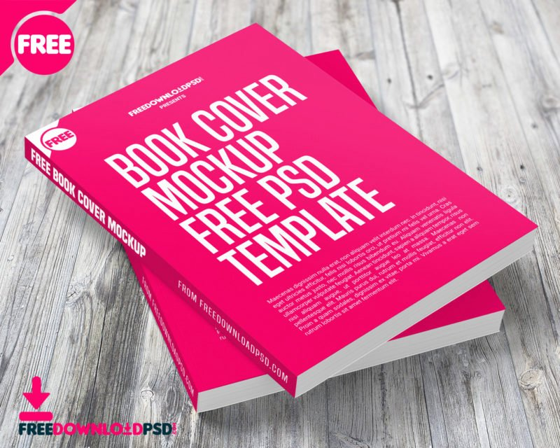 Book Cover Mockup Free Psd Template