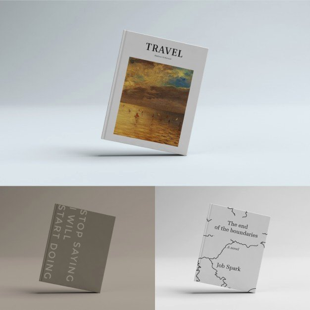 Book Cover Template Psd File