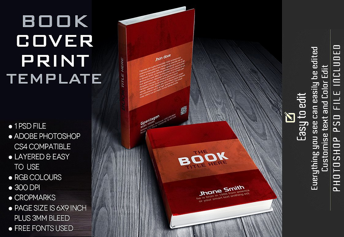 Book Cover Template Stationery Templates Creative Market