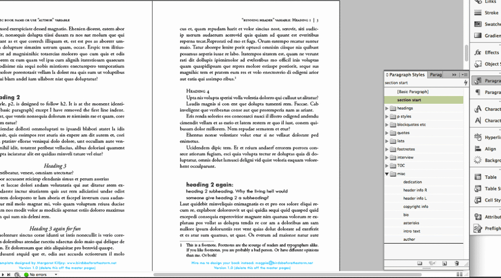 Book Design Template for Indesign