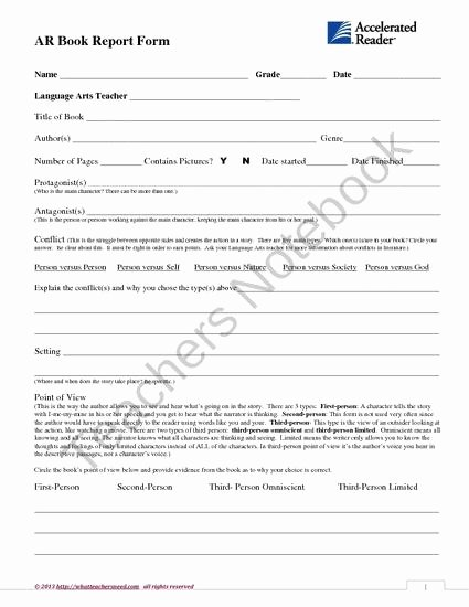 Book Report form Middle School Book Report Help Homework