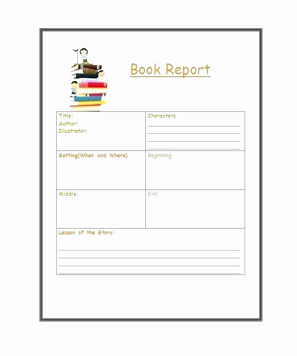 Book Report Template Grade How to Write A Book Report