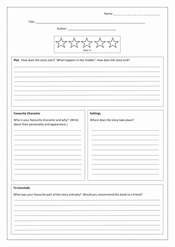 Book Review Template by Bubbleresources Teaching