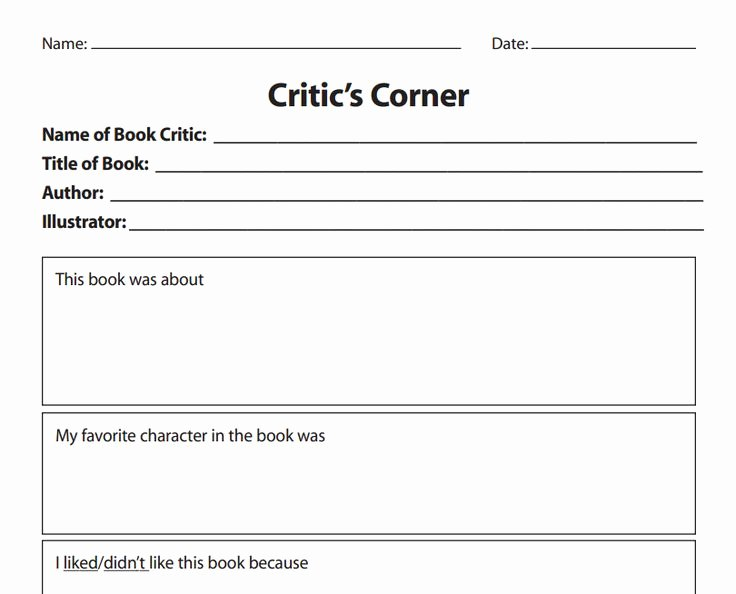 Book Review Template From