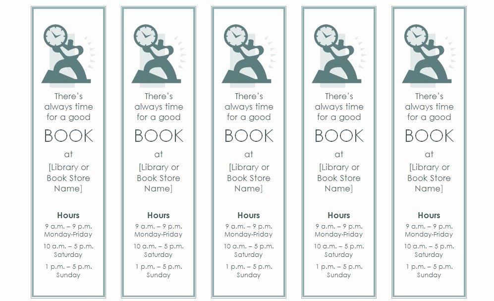 Bookmark Template
