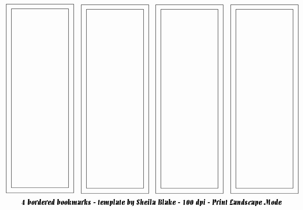 Bookmark Templates to Print Printable 360 Degree