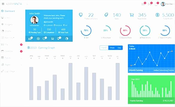Bootstrap Admin Dashboard Template Free Apricot 3 Download