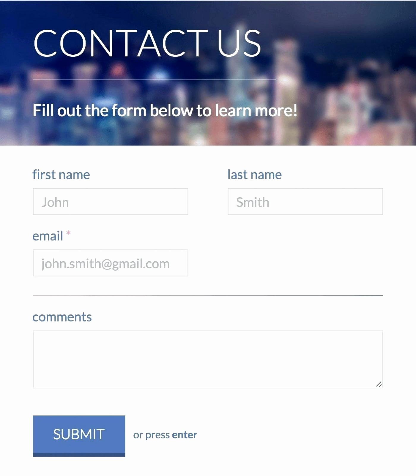 Bootstrap Contact form top Free Contact form Templates