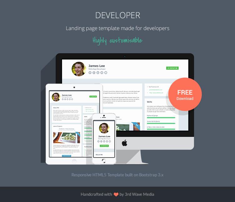 Bootstrap Responsive Developer Template