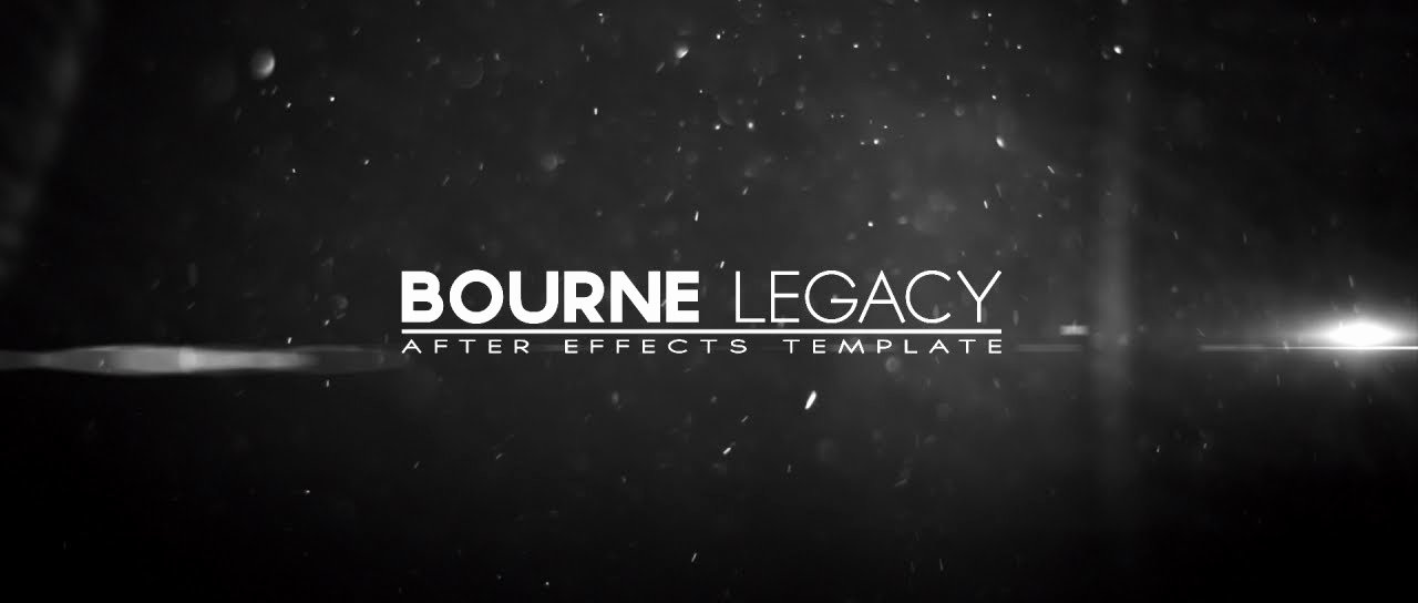 Bourne Legacy Title after Effects Template
